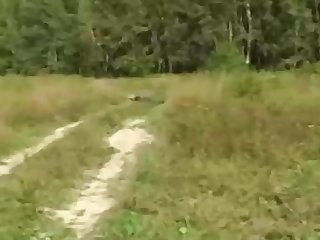 Russian girl is regularly having mischievous fuckfest in the nature, in the middle of the day