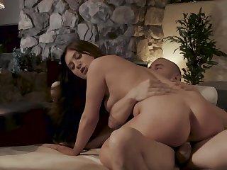 Wonderful young lady JoJo Hug loves abiding sex with avant-garde partner