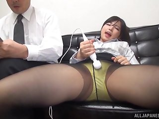 Japanese secretary in pantyhose fucked hardcore vanguard office