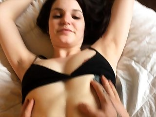 Extreme amateur handsomeness pov blowjob and pussy sex