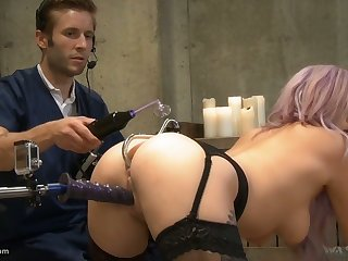Some dirty pussy masturbation workout by Vyxen Steel and her dominant bastard