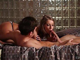 Erotic pussy ribbons makes Presley Hart moan