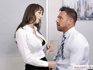 Sexy secretary Lexi Luna seduces handsome co-worker Johnny manor-house