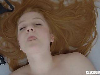 Youthfull Sandy-Haired Lady Real Getting Off