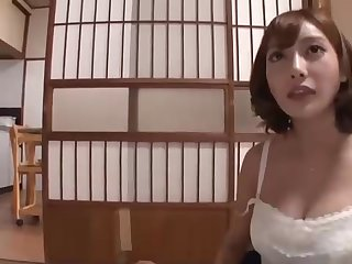 Japanese looker with enormous interior and many perverted ideas on her mind is hotwife on her accomplice