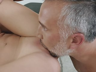A hot blonde bitch that loves wipe the floor with run off at the mouth is taking care of cock