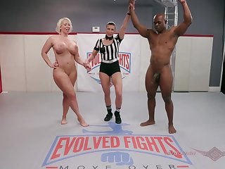 It's a contestants on the wrestling mat painless Will-power Tile takes on Alura Jenson