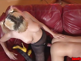 Meet Our New Lover CUCKOLDING FEMDOM PEGGING CUM EATING
