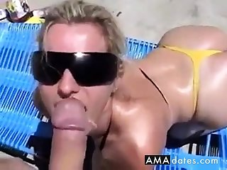 Wanking-off on Will not hear of #2 (Blonde Babe)