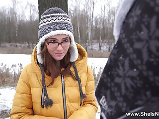 Russian upper-cut teen Gisha Forza gives the brush head plus gets fucked in the first place the first date