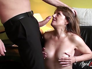 Sexy mature pornstar Pandora is fucked by big businessman's cock