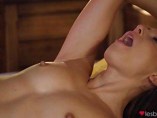 Flat-chested student Rebecca Volpetti fucked Talia Mint