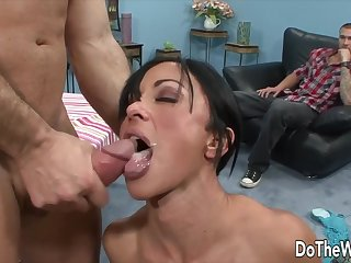 Housewives Taking Cumshots in Front for Cuckolds Compilation 1