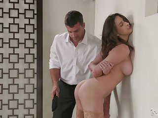 Ashley Adams gets fucked by hard friend's penis while she moans