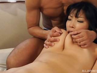 Two hard dicks tushie satisfy all sexual needs of hot Sankihon Nozomi