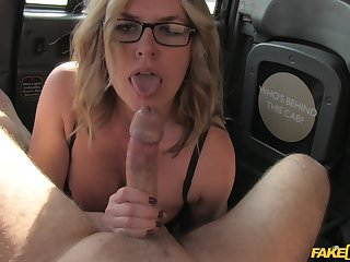 Busty blonde girl gives amazing blowjob and gets fucked unchanging