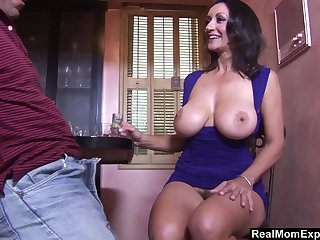 Having drinks mature lady Persia Monir lures stud for random fuck