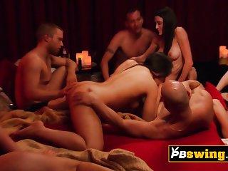 Hot increased by sensual vibes between swingers