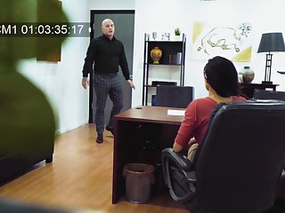 Go out of business cam at the office records Becky Bandinig getting fucked