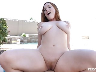 Busty non-specific filmed in a smashing outdoor have a passion play