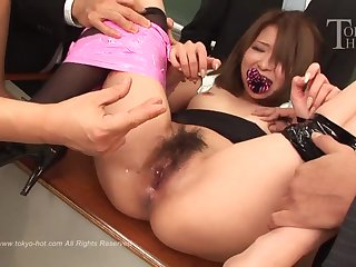 Nana Otone - Japanese schoolgirl close by gangbang close by chum around with annoy classroom