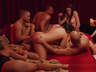 A lusty room full of swinger couples moaning plus fucking all night long.