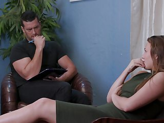 A psychoanalyst offers a BDSM therapy for his sexy ass patient