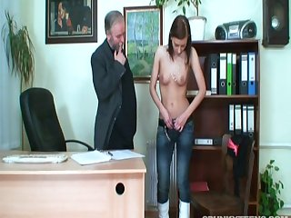 Skinny model Regina G fucked on hammer away directors by her patriarch boss