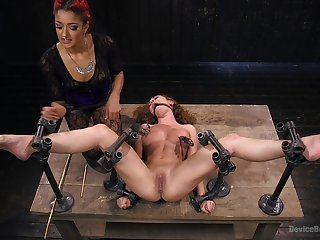 Intense bondage threesome lark featuring Daisy Ducati together with Roxanne Rae