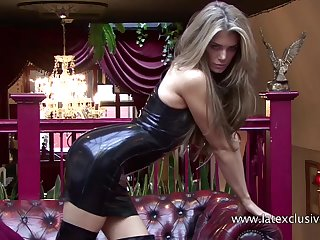 Watch fetish latex merely performed wide of certainly stunning PVC whore