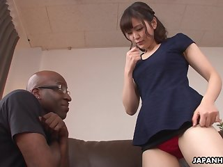 Cute Japanese babe Tomoka Sakurai loves her some BBC