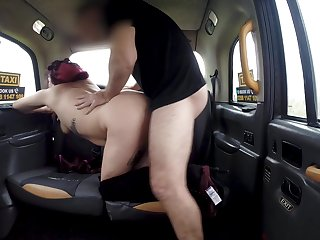 Chubby Millie Santoro makes her hung cab driver's day complete