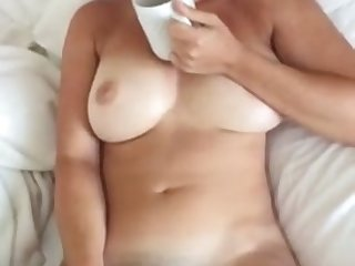 My hot busty wife masturbates at all times morning and she loves to suck my dick