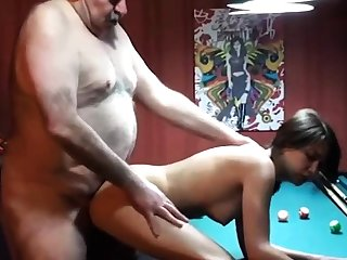 cucky films his gf with fat superannuated man
