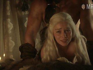 Khal Drogo bangs Daenerys Targaryen doggy style