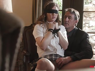Poorly acting college chick Devon Untried is punished with cock round her mouth