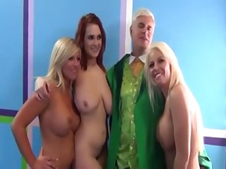 3 Large-Breasted Girls - sex orgy sex