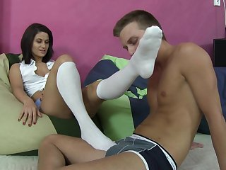 Footgirls Order Guys To Smell Their Socks