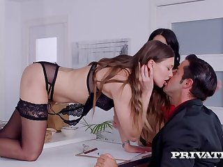 Talia Mint with the addition of Julia de Lucia, Anal Threesome in the Kitchen