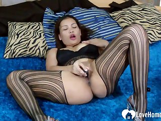 Kinky Asian Mommy Uses A Dildo Superior to before Herself
